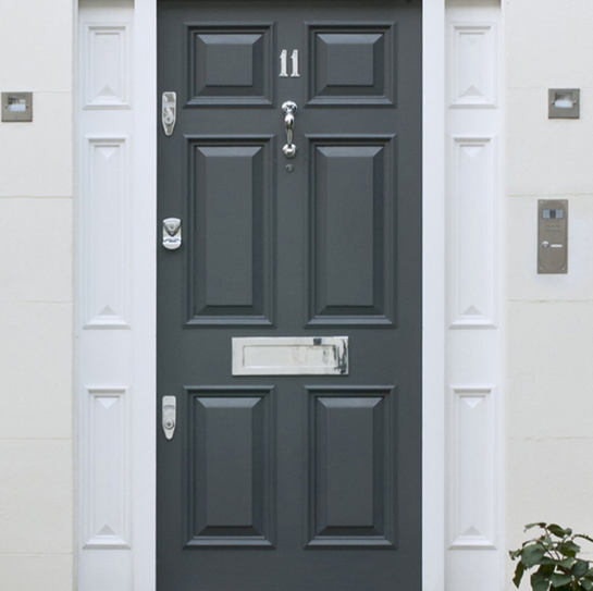 Modern door with modern fittings